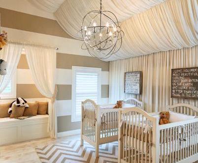Babyzimmer Mit Dachschrage Und Deckengestaltung Mit Baldachin