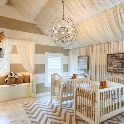 Dachschräge Dekorieren babyzimmer mit dachschräge und deckengestaltung mit baldachin
