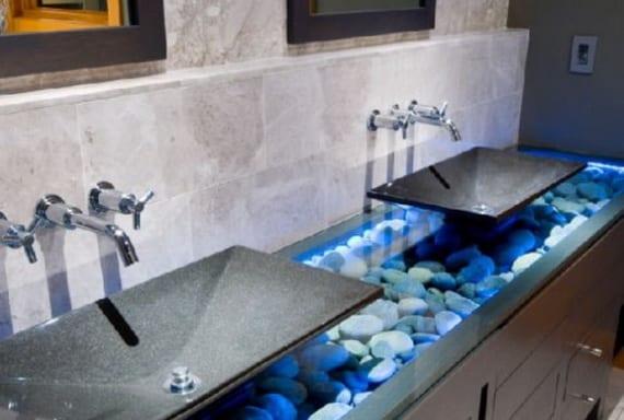 Badezimmer grau mit badezimmerschrank grau freshouse - Badezimmerschrank grau ...