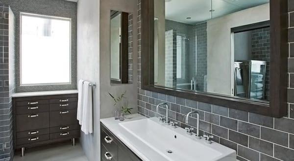 badezimmer grau mit spiegel für badezimmer und badezimmer fliesen ...