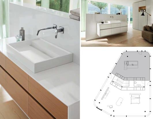 badezimmer ideen für modernes innendesign mit wandmodul RC40 ...