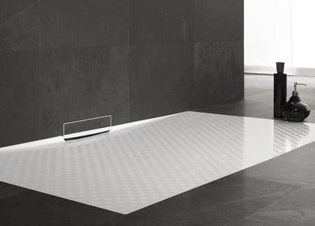 badezimmer modernisieren mit duschenfläche weiß für bodengleiche ...