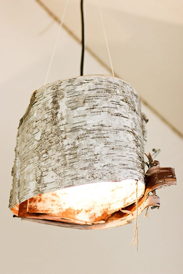 bastelidee mit holz für DIY Lampenschirm - fresHouse
