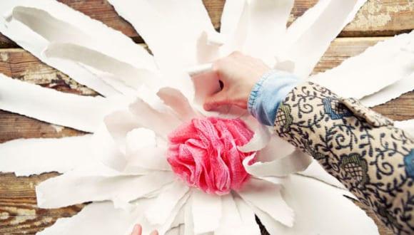 coole Papierblumen selber basteln