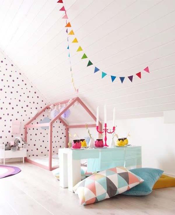Coole Kinderzimmer Einrichtung Und Wandgestaltung Mit Punkten