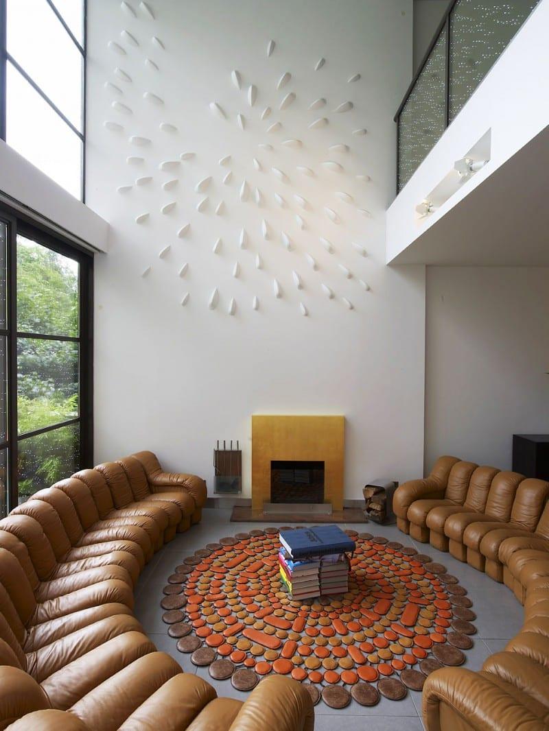 Wunderbar Einzigartige Wandgestaltung Wohnzimmer In Gramercy Park Townhouse