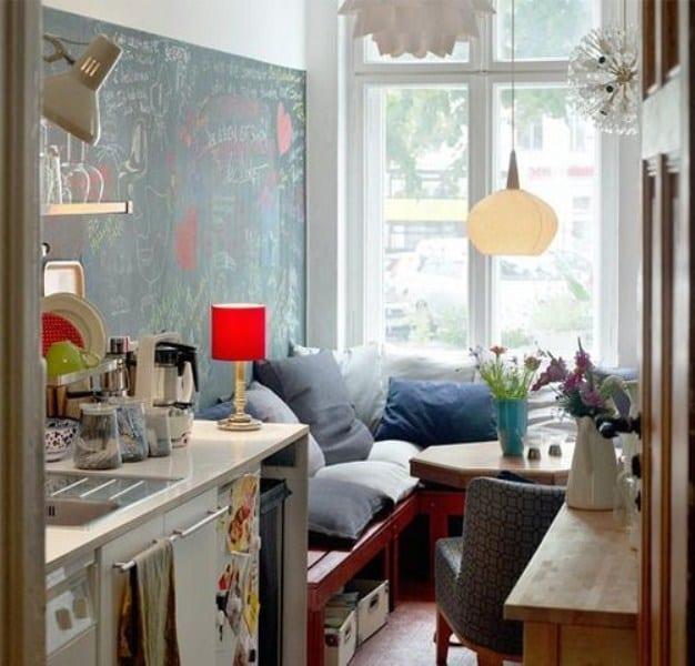 extrem kleine küche mit sitzecke küche rot - fresHouse