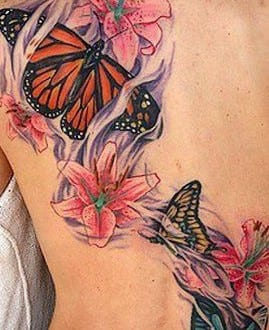 frauen tattoo idee mit tattoovorlage schmetterling mit. Black Bedroom Furniture Sets. Home Design Ideas