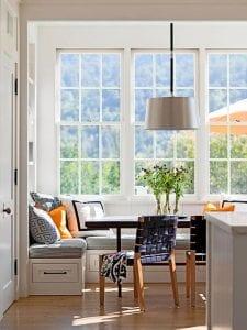 idee für kleine küche weiß mit sitzecke küche und Esstisch ...