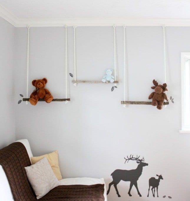 Babyzimmer ideen zum selber machen  ideen für wandgestaltung kinderzimmer mit schaukeln - fresHouse