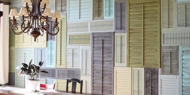 ideen f r wandgestaltung mit alten fensterl den freshouse. Black Bedroom Furniture Sets. Home Design Ideas