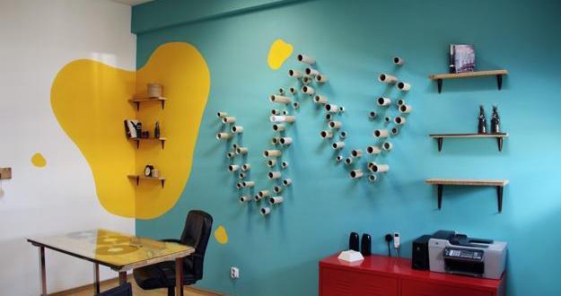 Ideen Fur Wandgestaltung Von Blaer Wand Freshouse