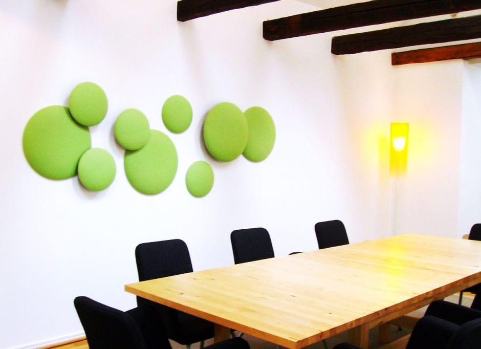 Ideen Für Wandgestaltung Wohnzimmer Mit Grünen Kreisen