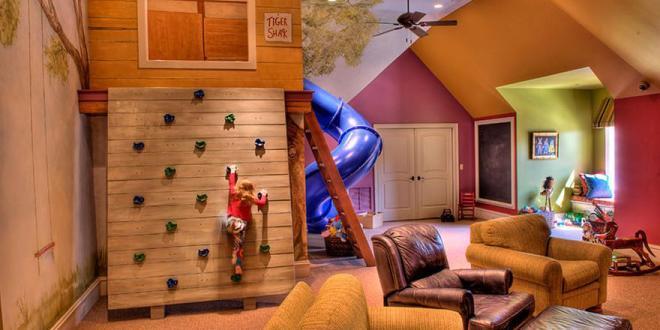 Ideen Furs Kinderzimmer Dachschrage Und Kletterwand Freshouse