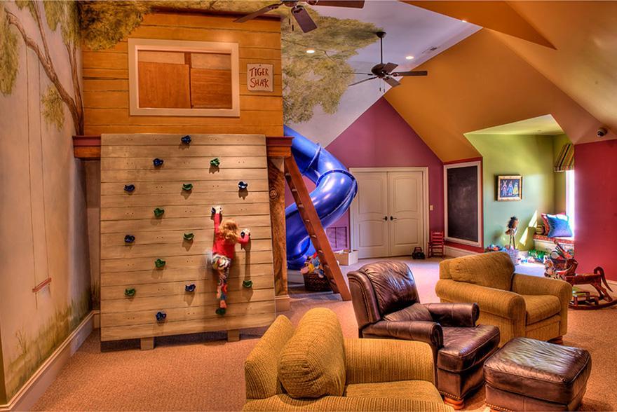 Great Ideen Fürs Kinderzimmer Dachschräge Und Kletterwand