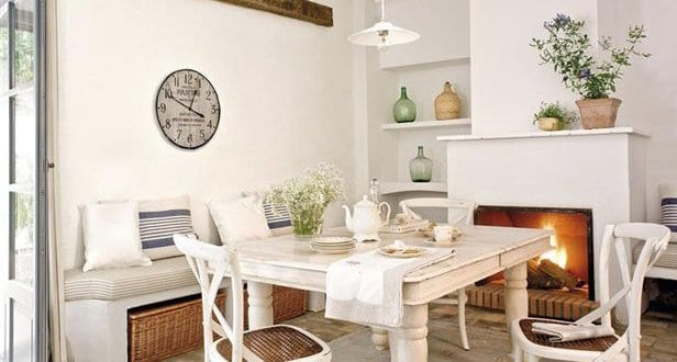 interior design f r rustikale k che wei freshouse. Black Bedroom Furniture Sets. Home Design Ideas