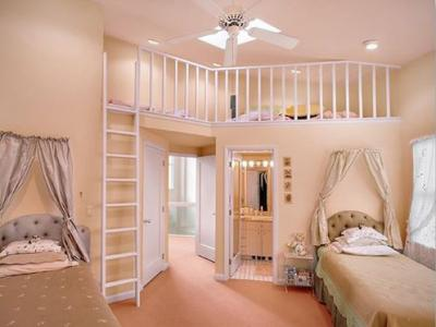 Kinderzimmer Idee Fürs Mädchen Mit Wandfarbe Apricot