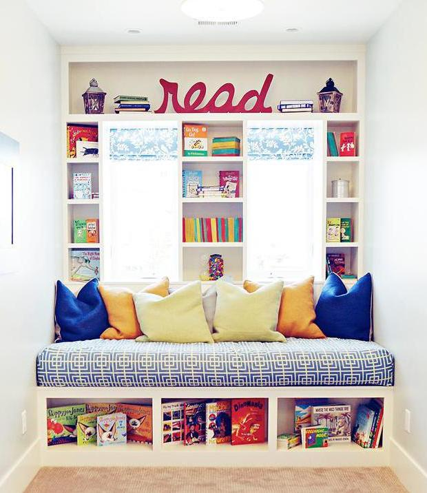Kleines Kinderzimmer Ideen | Kleines Kinderzimmer Einrichten Mit Sitzecke Und Wandregalenam