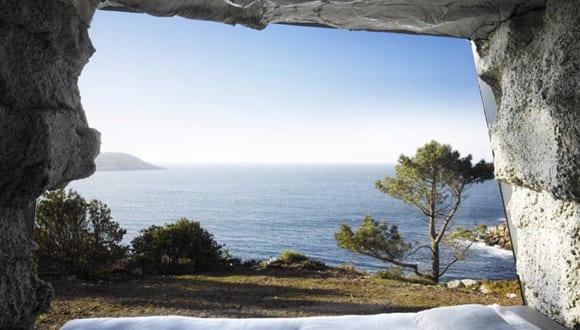 Luxus Schlafzimmer in einer Höhle