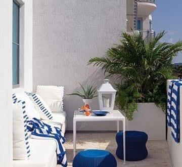 Mediterrane Balkon Ideen In Weiss Und Blau Freshouse