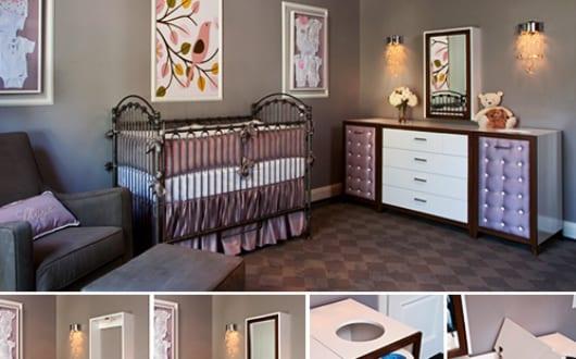 Moderne-Babyzimmer-Gestaltung-Und-Dekoration-Mit-Sideboard-Lila