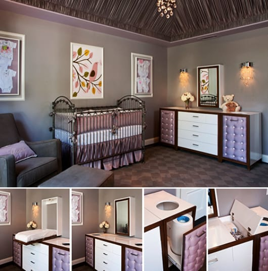 moderne babyzimmer gestaltung und dekoration mit sideboard. Black Bedroom Furniture Sets. Home Design Ideas