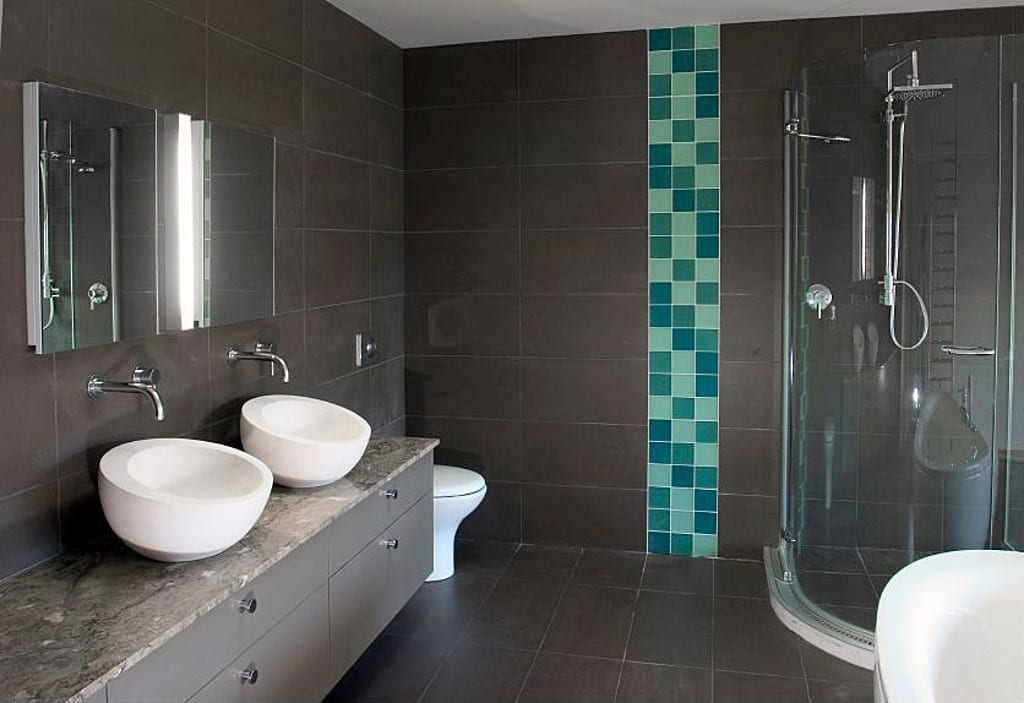 modernes badezimmer grau - fresHouse