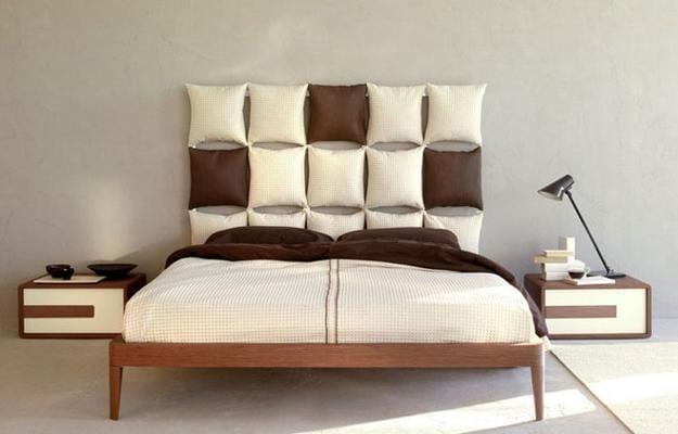 Schlafzimmer Wandgestaltung Mit Kissen