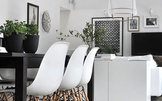 skandinavisches Interior Design weiß für modernes wohn esszimmer ...