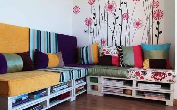 sofa aus europaletten für stylisches wohnzimmer - fresHouse