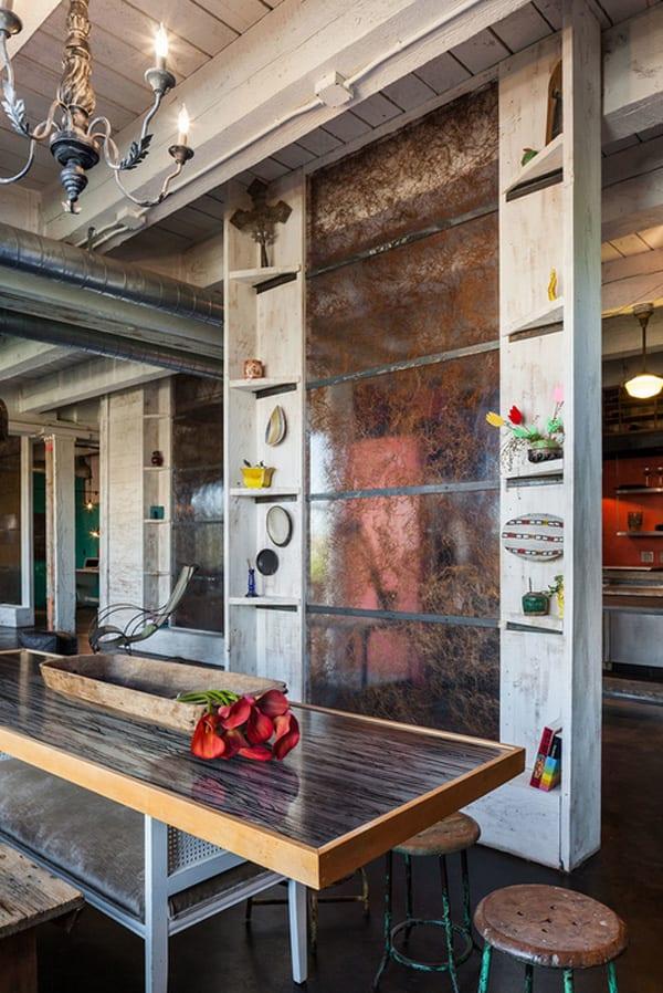 Wohnzimmer Paneele, stylisches wohnzimmer design mit trennwand aus ecoresin paneel mit, Design ideen