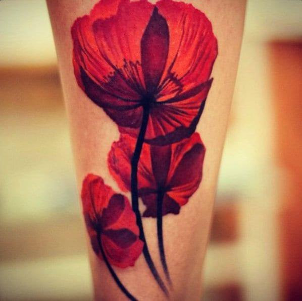 Tattoo schulterblatt blume