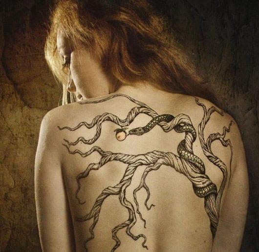 baum tattoo ideen frauen