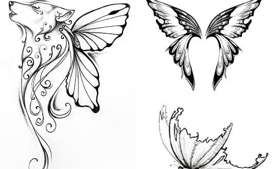 tattoovorlagen schmetteling als interessante tattoo ideen freshouse. Black Bedroom Furniture Sets. Home Design Ideas
