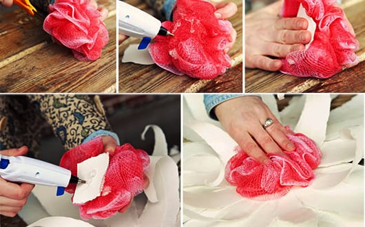 Blumenel Selber Machen vintage deko selber machen aus papier und badeschwamm für coole diy