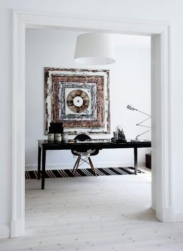 Wei es interior design und coole wandgestaltung mit dem kunstwerk von sanne hjermind freshouse - Coole wanddesigns ...