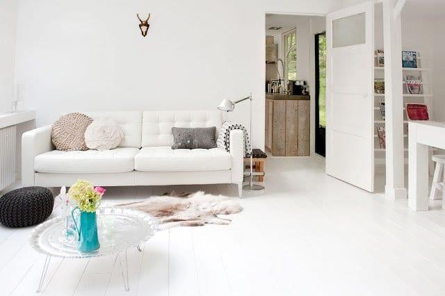 Holzfußboden Weiß ~ Wohnzimmer rustikal mit interior design in weiß und holzboden weiß