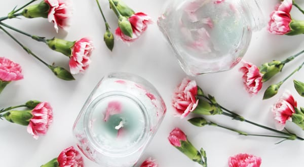 Blumenkerzen Basteln