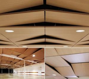 Deckengestaltung-mit-Schallschutzpaneelen-aus-Holz-der-Kollektion-TECTONIQUE-5.5--von-Oberflex