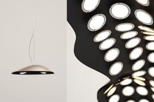 Designer Pendellampe cloud für minimalistische Einrichtung und moderne Raumgestaltung