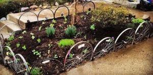 Fahrradräder für interessante Gartendeko