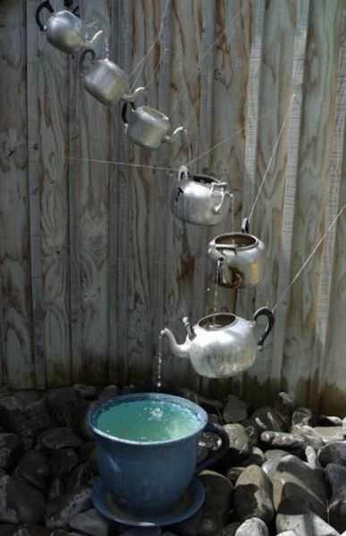 Gartendeko Selber Machen Mit Alten Teekesseln Aus Metall Freshouse