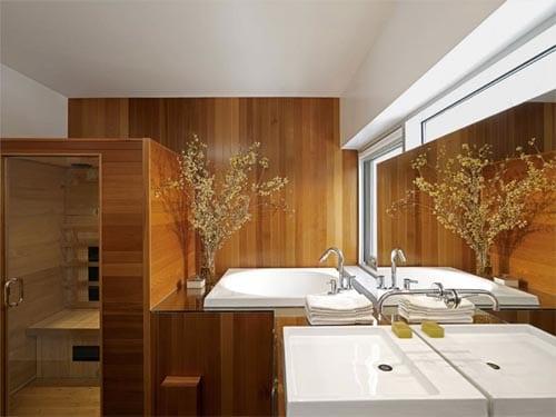beispiele f r badezimmer holz mit sauna freshouse. Black Bedroom Furniture Sets. Home Design Ideas
