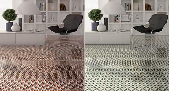 Fußboden Fliesen Grün ~ Bodenfliesen design in rot und grün der seria via appia multicolor