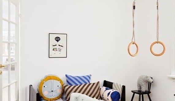 Coole Einrichtung Fürs Kinderzimmer Mit Gymnastik Ringen Von Danish