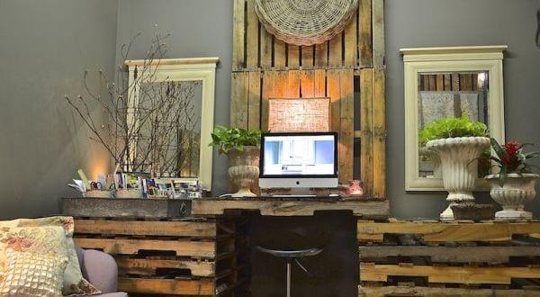 cooler DIY Schreibtisch aus Paletten - fresHouse