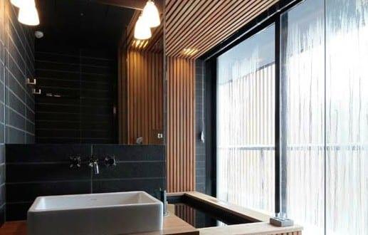 Cooles interior design mit holz und naturstein f r for Badezimmer design holz