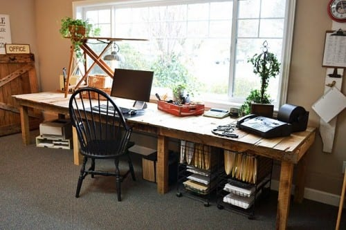 Europaletten Für Diy Schreibtisch - Freshouse