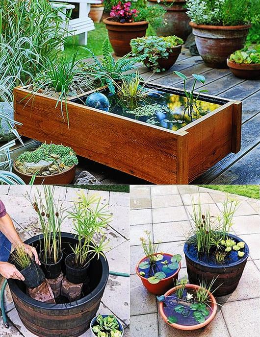 Gartendeko Mit DIY Wassergarten Selber Machen