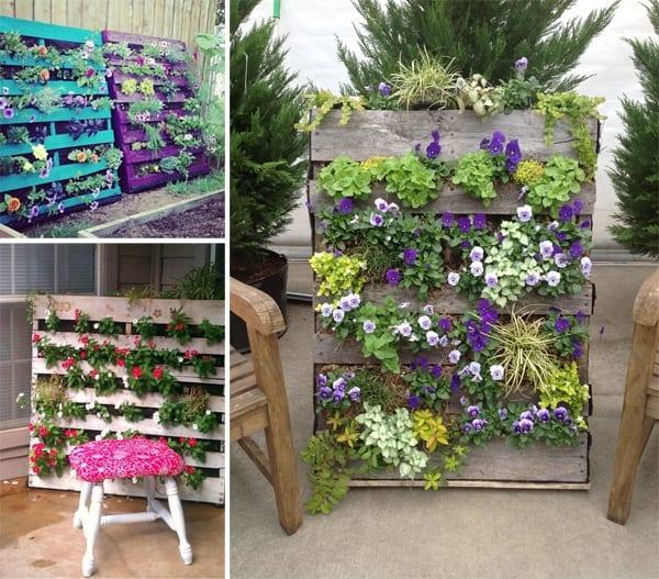 Gut Gartendeko Selber Machen Aus Europaletten Als Vertikaler Garten